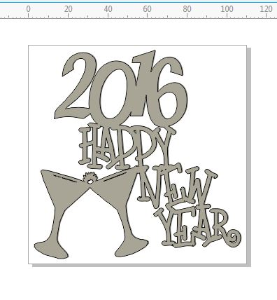 2016 HAPPY NEW YEAR 110 X 110 MM  INDIVIDUALLY PACKED  PRICED  P