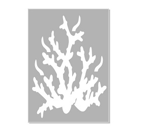 Seaweed, coral 3 stencil   ,Australian made